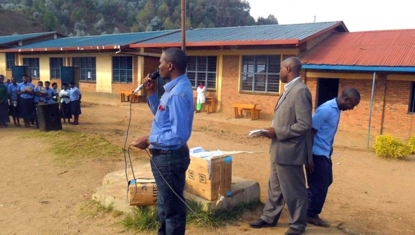 Students in Nyakiriba, West Province Rwanda, Receive a Copy of Our Free Book
